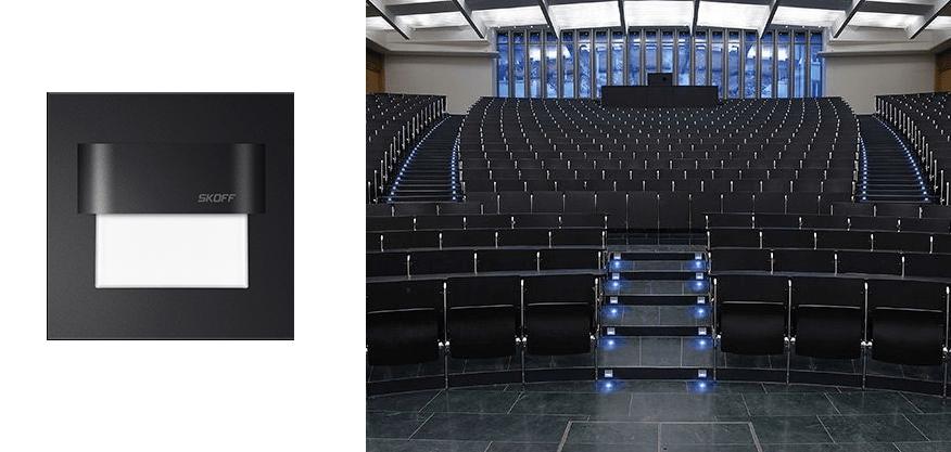 Skoff Tango - oprawa schodowa LED czarna